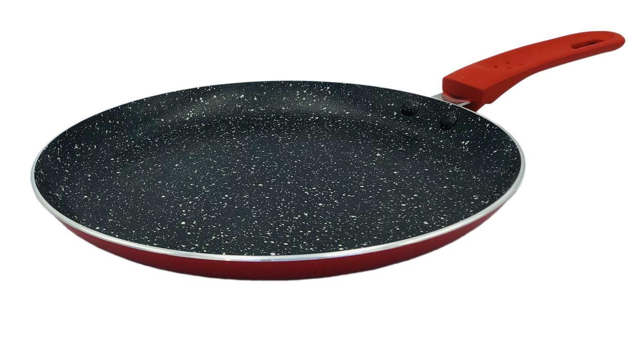 Сковорода блинная с антипригарным покрытием Con Brio СВ-2524 (25см)   сковородка Con Brio красная