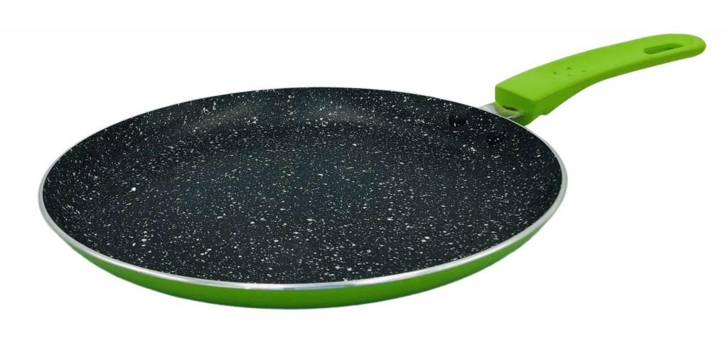 Сковорода блинная с антипригарным покрытием Con Brio СВ-2624 (26 см)   сковородка Con Brio зелёная