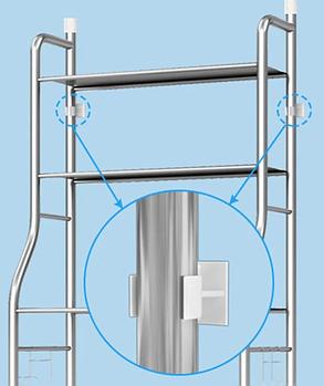 Стелаж для зберігання над пральною машиною регульований по висоті TW-106   Етажерка для ванної, фото 2