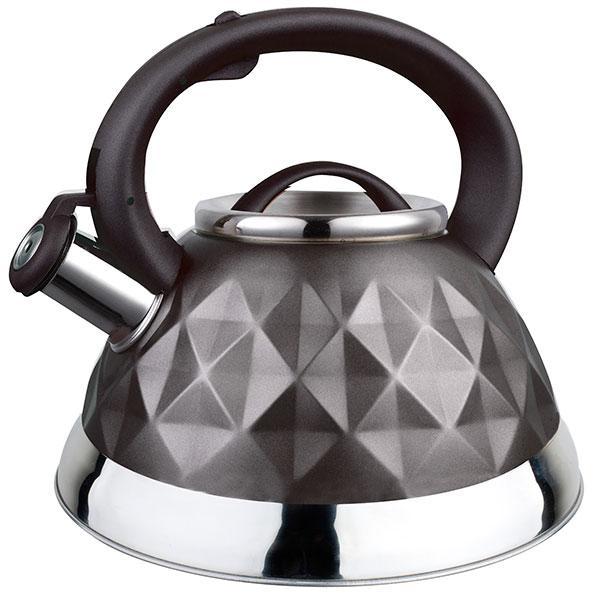 Чайник со свистком из нержавеющей стали Maestro MR-1311 (3 л) черный | металлический чайник Маэстро, Маестро