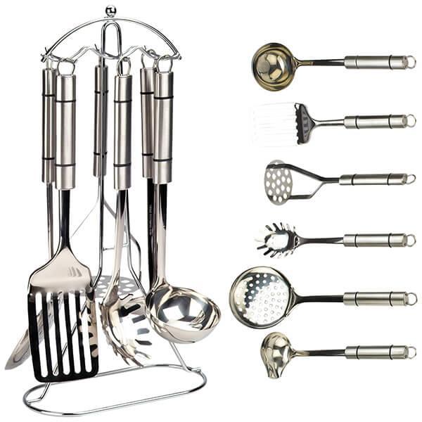 Кухонный набор из 7 предметов Maestro MR-1542   лопатка   соусник   половник   шумовка   картофелемялка