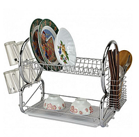 Сушилка для посуды Bohmann ВН 77316 двухярусная   Стойка для хранения посуды 2 полки