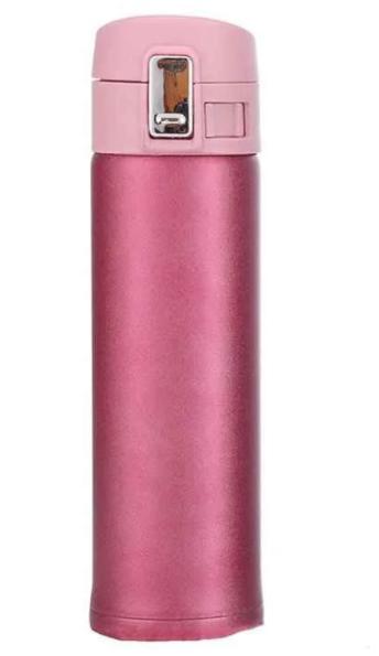 Термокружка из нержавеющей стали Con Brio СВ-378 (450 мл) | термочашка Con Brio | термос 0,45 л розовая