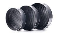 Набор разъемных круглых форм для выпечки Con Brio CB-531 | формы для выпекания 3 шт Con Brio