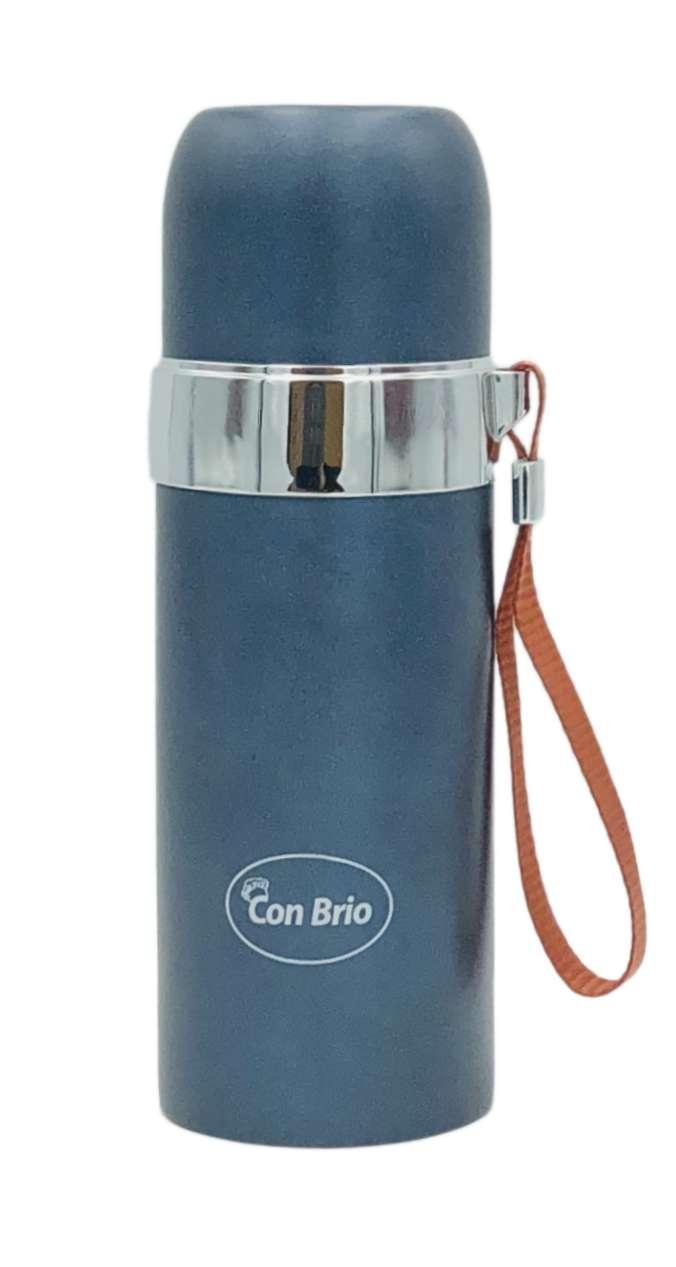 Вакуумный термос из нержавеющей стали Con Brio СВ-381 (350 мл) | термочашка Con Brio | термос 0,35 л серый