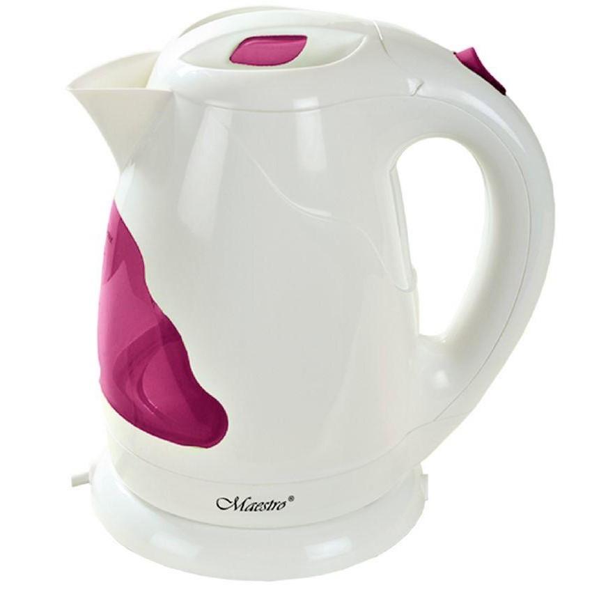 Электрочайник Maestro MR-034 белый с розовым (1.7 л, 2000 Вт) | электрический чайник Маэстро, Маестро
