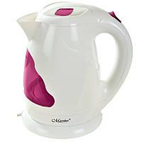 Электрочайник Maestro MR-034 белый с розовым (1.7 л, 2000 Вт) | электрический чайник Маэстро, Маестро, фото 1