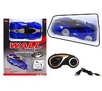 Антигравитационная машинка Climber CAR MX-01 синяя | радиоуправляемая машинка с пультом ДУ ездит по стенам, фото 1