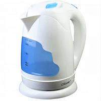 Электрочайник Maestro MR-034 белый с голубым (1.7 л, 2000 Вт)   электрический чайник Маэстро, Маестро, фото 1
