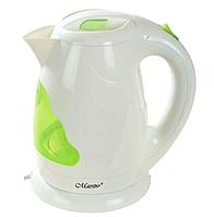 Электрочайник Maestro MR-034 белый с зеленым (1.7 л, 2000 Вт) | электрический чайник Маэстро, Маестро, фото 1