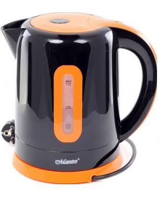 Электрочайник Maestro MR-040 черный с оранжевым (1.7 л, 2000 Вт) | электрический чайник Маэстро, Маестро