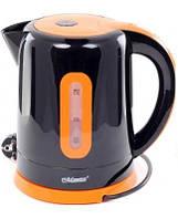 Электрочайник Maestro MR-040 черный с оранжевым (1.7 л, 2000 Вт) | электрический чайник Маэстро, Маестро, фото 1