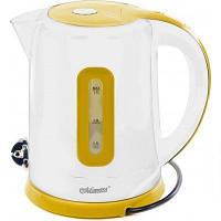 Электрочайник Maestro MR-040 белый с желтым (1.7 л, 2000 Вт) | электрический чайник Маэстро, Маестро, фото 1