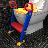 Детское сидение на унитаз со ступенькой и ручками Childr Toilet Trainer