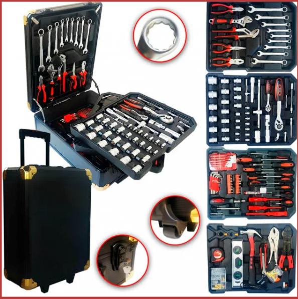 Набор инструментов Top Kitchen 399 пр. ручных профессиональных универсальных для дома и авто в чемодане