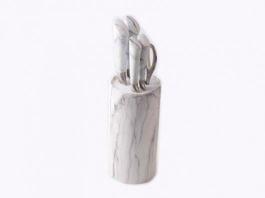 Набор ножей с подставкой Con Brio СВ-7074 6 предметов 4 ножа | Ножи кухонные универсальный набор
