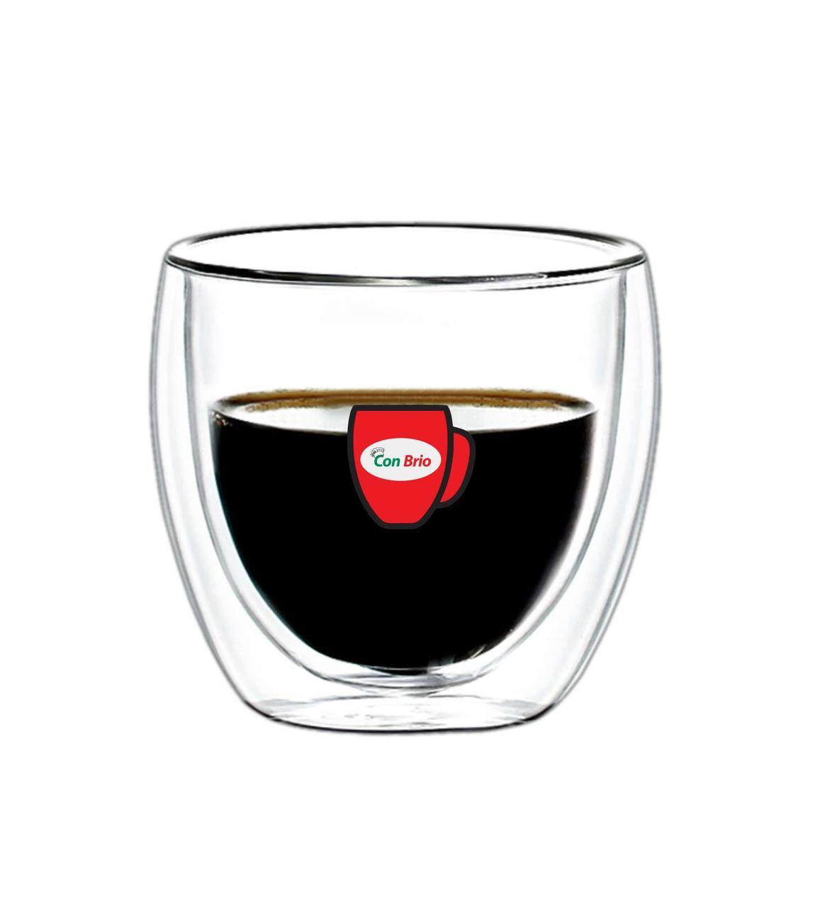 Набор стаканов с двойными стенками Con Brio CB-8325 6 шт | стеклянные стаканы Con Brio