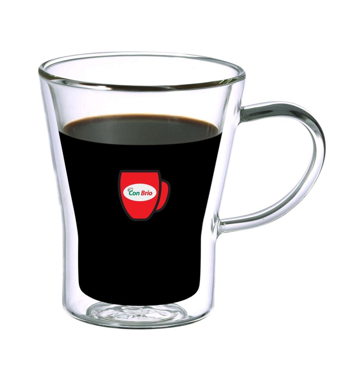 Набор чашек с двойными стенками Con Brio CB-8528 6 шт | стеклянные стаканы Con Brio