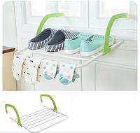 Съемная сушилка для одежды и обуви Fold Clothes Shelf зеленая