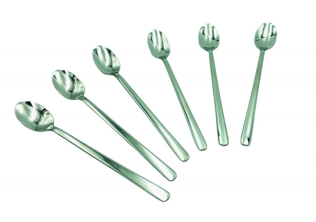 Набор барных ложек Con Brio СВ-3007 из 6 предметов нержавеющая сталь