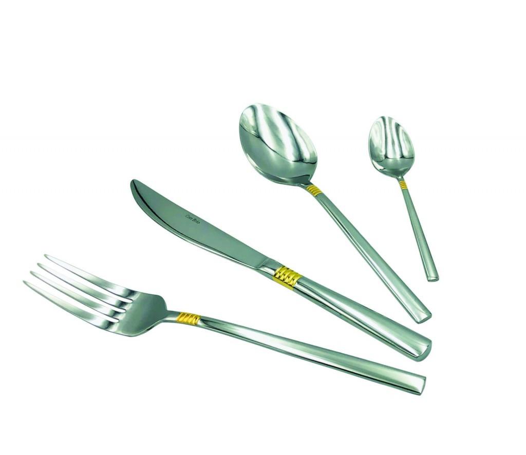 Набор столовых приборов Con Brio СВ-3912 из 24 предметов нержавеющая сталь    ложки, вилки, ножи Con Brio