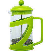 Френч-пресс для заваривания Con Brio СВ-5480 (800 мл) стекло+пластик | заварник | заварочный чайник зелёный, фото 1