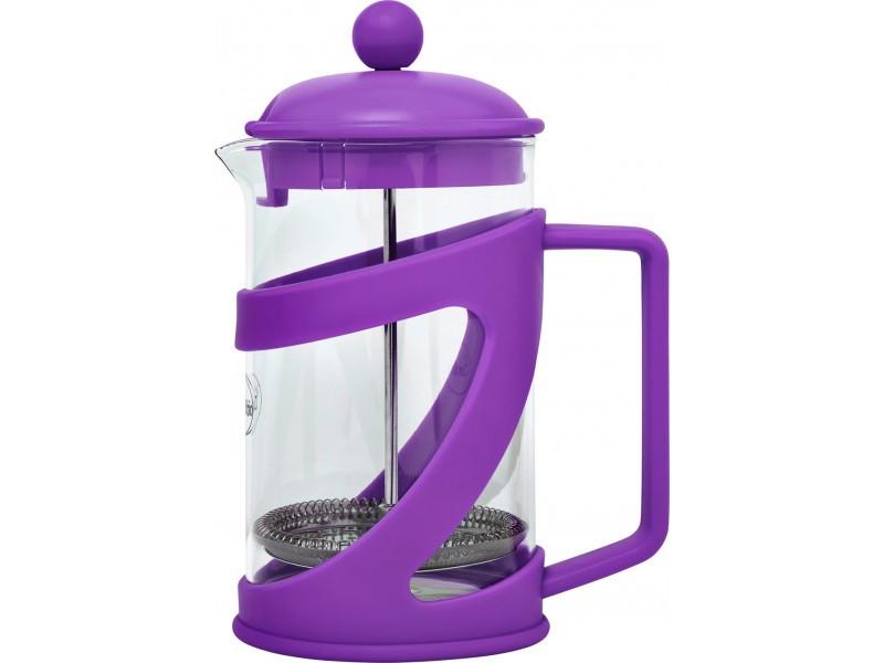 Френч-пресс для заваривания Con Brio СВ-5480 (800 мл) стекло+пластик | заварник | заварочный чайник фиолетовый