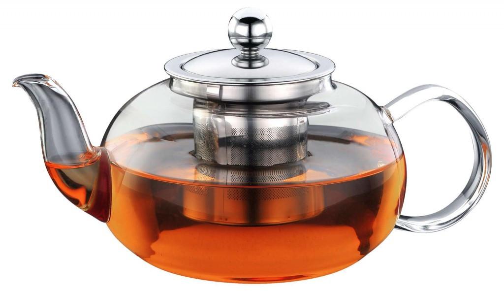 Чайник - заварник Con Brio СВ-6060 (600 мл) стекло | заварочный чайник | керамический чайник Con Brio