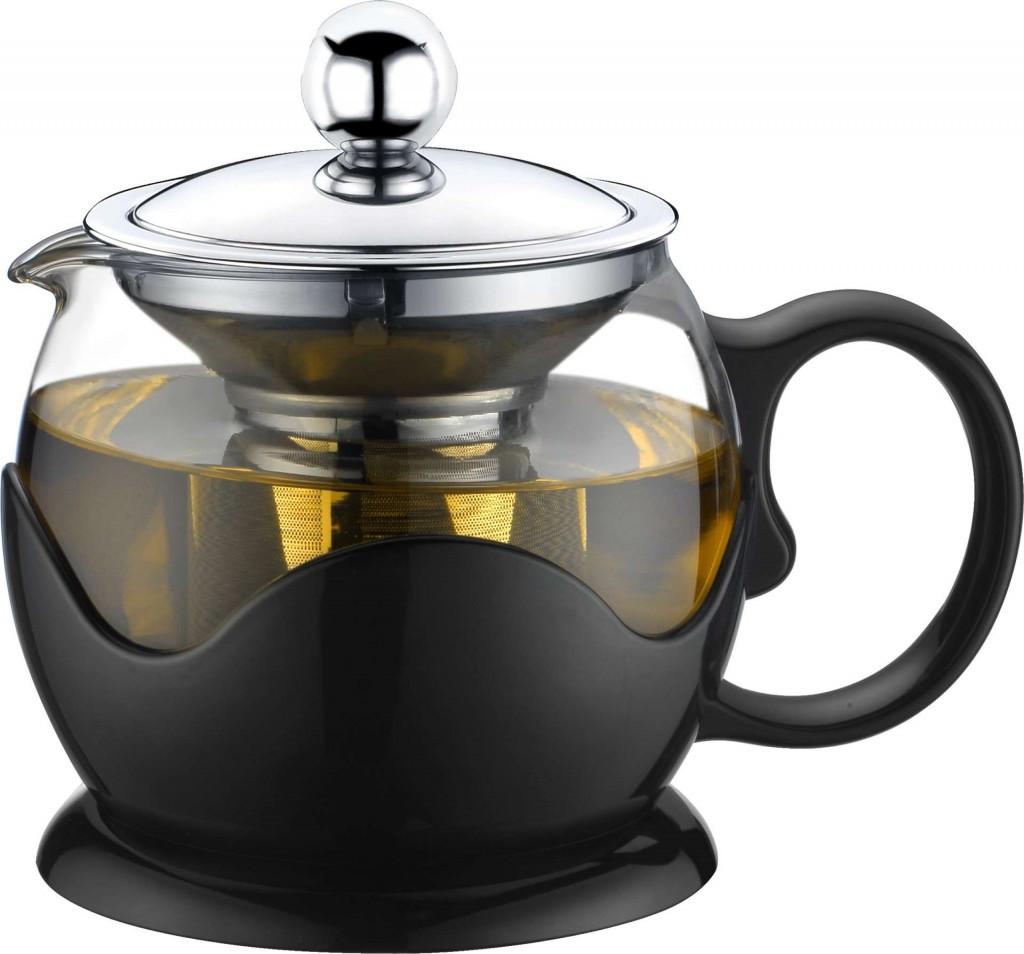 Чайник - заварник Con Brio СВ-6180 (800 мл) стекло   заварочный чайник   керамический чайник Con Brio