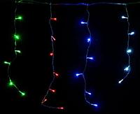 Гирлянда бахрома разноцветная 120LED 4м RD-7078 черный провод  Новогодняя светодиодная гирлянда уличная RGB, фото 1