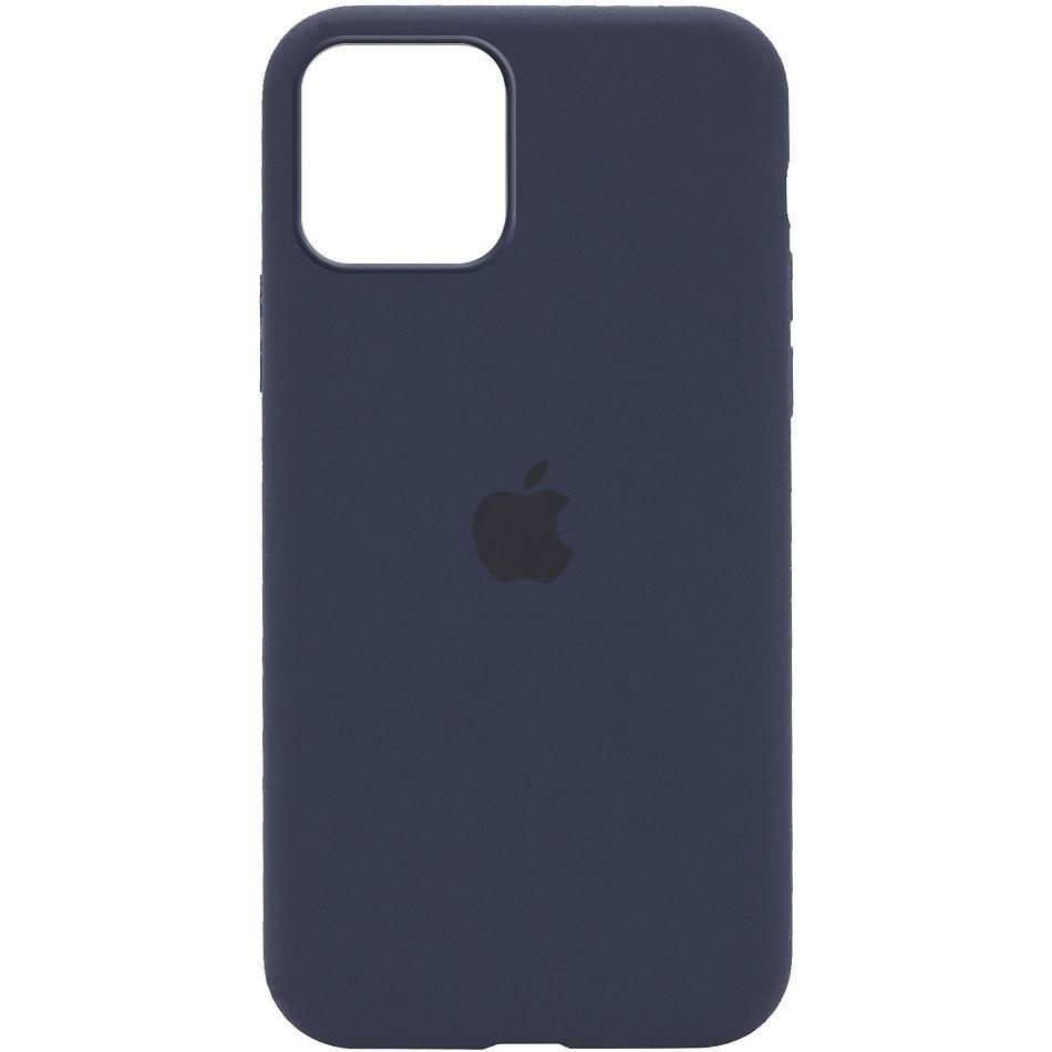 Силиконовый чехол Silicone case full cover для Apple iPhone 12 / 12 Pro   Midnight Blue   DK