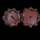 Колеса с грунтозацепами 340/100 с полуосью 25 мм круглая Булат, фото 7