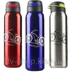 """Термос с трубочкою """"Велоспорт"""", 500 мл (червоний,синій)"""