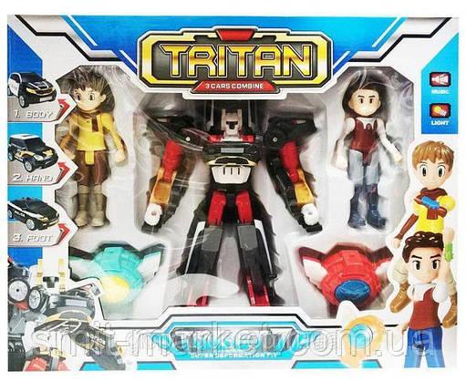 Игрушка Тобот робот-трансформер Q1906 Тритан с героями, фото 2