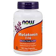 Мелатонин 3 мг, Now Foods, 180 гелевых капсул