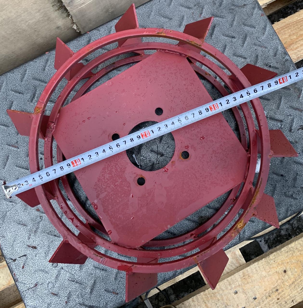 Колеса с грунтозацепами 400/150(10*10) МБ СТАНДАРТ(3мм) Булат