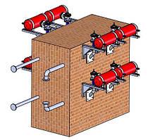 Система очистки зольных и шлаковых отложений экономайзера твердотопливного котла