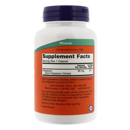 Калий Цитрат 99 мг, Now Foods, 180 гелевых капсул, фото 2
