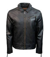 Оригінальна шкіряна куртка Top Gun Men's Short Zip-Up (Black) TG1914