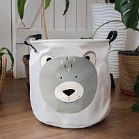 Текстильная корзина для хранения вещей и игрушек 30х30см Berni Медведь Разноцветная (49049)