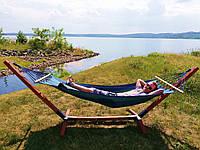 Гамаки на деревянном каркасе,гамак со стойкой,гамак XL 200х100, фото 1