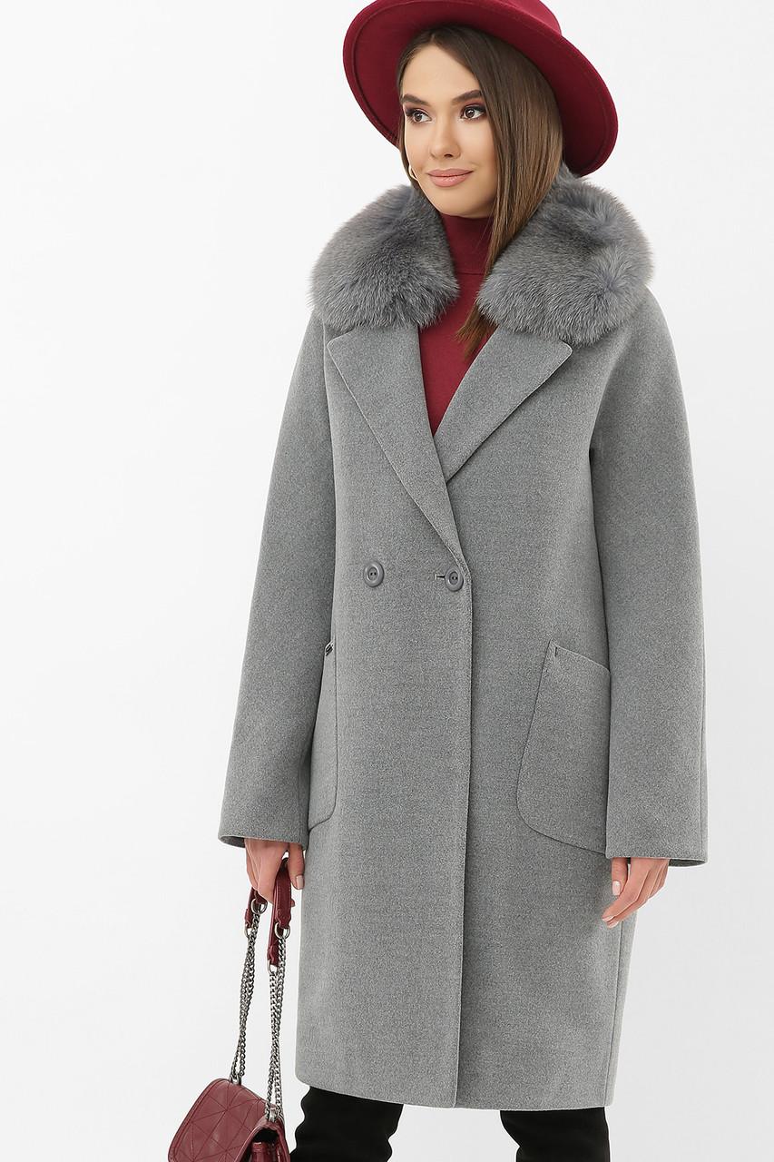 Пальто женское зимнее темно-серое MS-233 Z