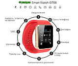 Умные часы телефон Smart Watch Phone GT08 Original камера шагомер счетчик калорий, фото 4