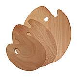 Палитра деревянная, овальная, 40х50см., (толщина 3мм.), D.K.ART & CRAFT, фото 2