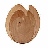 Палитра деревянная, овальная, 40х50см., (толщина 3мм.), D.K.ART & CRAFT, фото 3