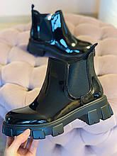 Ботинки женские в стиле Челси CHELSEA 2020 лаковые