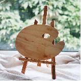 Палитра деревянная, овальная, эргономичная, промасленная, 25х35см, ROSA Gallery, фото 2