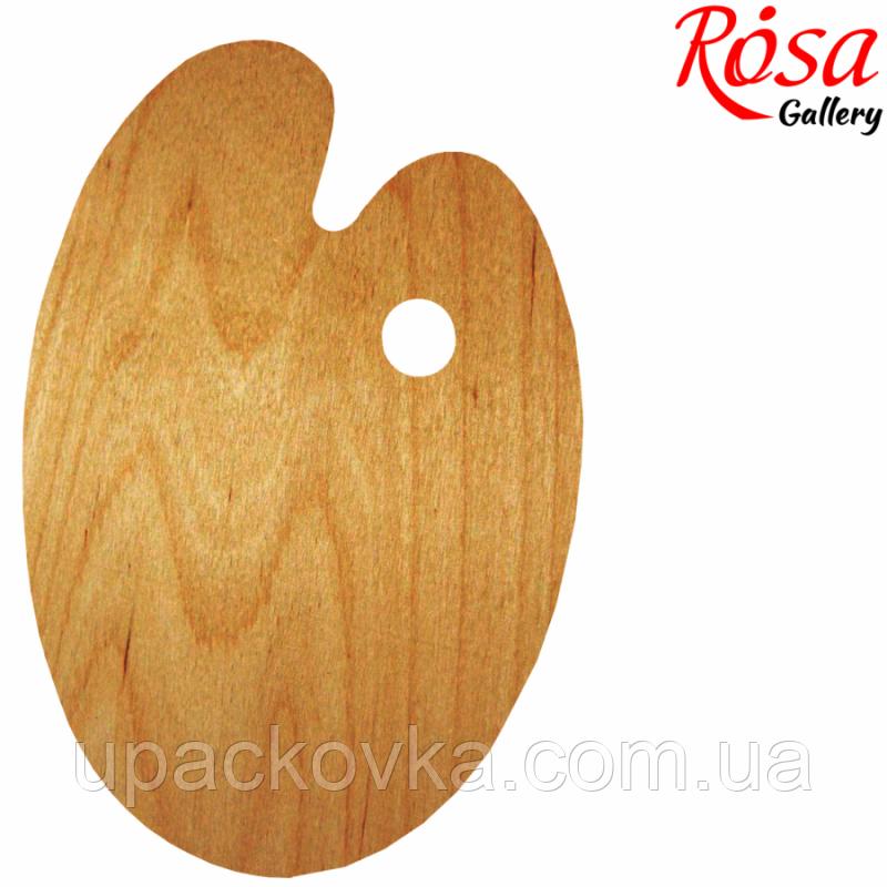 Палитра деревянная, овальная, эргономичная, промасленная, 30х40см, ROSA Gallery