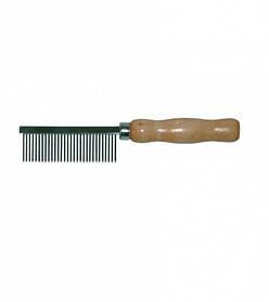 Гребінець медіум з дерев'яною ручкою, 3,5х18,5 см