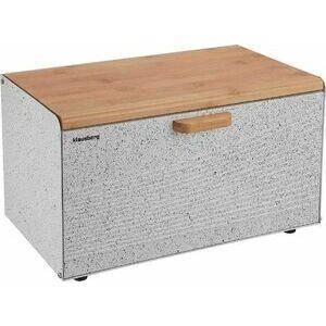 Хлебница с крышкой разделочной доской бамбук Klausberg KB-7466 ( 35,5*23.5*21 см), фото 2